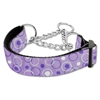 Mirage Pet Products Retro Nylon Ribbon Collar Martingale Lavender Medium