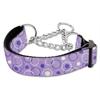 Mirage Pet Products Retro Nylon Ribbon Collar Martingale Lavender Large