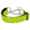 Mirage Pet Products Retro Nylon Ribbon Collar Martingale Lime Green Medium