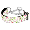 Mirage Pet Products Retro Nylon Ribbon Collar Martingale White Medium