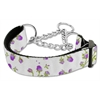 Mirage Pet Products Roses Nylon Ribbon Collar Martingale Medium Purple
