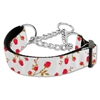 Mirage Pet Products Roses Nylon Ribbon Collar Martingale Medium Red
