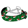 Mirage Pet Products Santa Hats Nylon Ribbon Collar Martingale Medium