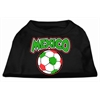 Mirage Pet Products Mexico Soccer Screen Print Shirt Black XXL (18)