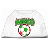 Mirage Pet Products Mexico Soccer Screen Print Shirt White XXL (18)