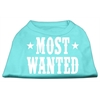 Mirage Pet Products Most Wanted Screen Print Shirt Aqua XS (8)