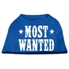 Mirage Pet Products Most Wanted Screen Print Shirt Blue XS (8)