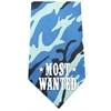 Mirage Pet Products Most Wanted Screen Print Bandana Blue Camo