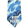 Mirage Pet Products Most Wanted Screen Print Bandana Blue Camo