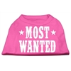 Mirage Pet Products Most Wanted Screen Print Shirt Bright Pink Med (12)