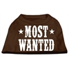 Mirage Pet Products Most Wanted Screen Print Shirt Brown XXL (18)