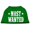 Mirage Pet Products Most Wanted Screen Print Shirt Green Lg (14)