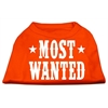 Mirage Pet Products Most Wanted Screen Print Shirt Orange Lg (14)