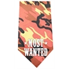Mirage Pet Products Most Wanted Screen Print Bandana Orange Camo
