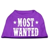 Mirage Pet Products Most Wanted Screen Print Shirt Purple XXL (18)