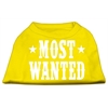 Mirage Pet Products Most Wanted Screen Print Shirt Yellow XXL (18)