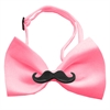 Mirage Pet Products Black Moustache Bubblegum Pink Bow Tie