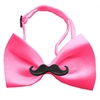 Mirage Pet Products Black Moustache Hot Pink Bow Tie