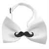 Mirage Pet Products Black Moustache White Bow Tie