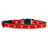 Mirage Pet Products Anchors Nylon Ribbon Collar Red Cat Safety
