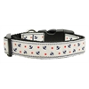 Mirage Pet Products Anchors Nylon Ribbon Collar White Large