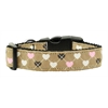Mirage Pet Products Argyle Hearts Nylon Ribbon Collar Tan Large