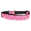 Mirage Pet Products Butterfly Nylon Ribbon Collar Pink Medium