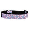 Mirage Pet Products Butterfly Nylon Ribbon Collar Lavender Large
