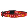 Mirage Pet Products Butterfly Nylon Ribbon Collar Red Cat Safety