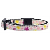 Mirage Pet Products Butterfly Nylon Ribbon Collar White Cat Safety