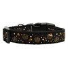 Mirage Pet Products Cupcakes Nylon Ribbon Collar Black Large
