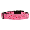 Mirage Pet Products Cupcakes Nylon Ribbon Collar Bright Pink Large