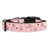 Mirage Pet Products Cupcakes Nylon Ribbon Collar Light Pink Large