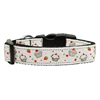 Mirage Pet Products Cupcakes Nylon Ribbon Collar White Medium