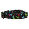Mirage Pet Products Lollipops Nylon Ribbon Collar Black Large