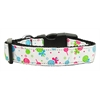 Mirage Pet Products Lollipops Nylon Ribbon Collar White Medium