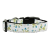 Mirage Pet Products Roses Nylon Ribbon Collar Blue Large