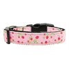 Mirage Pet Products Roses Nylon Ribbon Collar Light Pink Medium