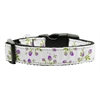Mirage Pet Products Roses Nylon Ribbon Collar Purple Medium