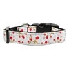 Mirage Pet Products Roses Nylon Ribbon Collar Red Medium