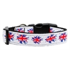 Mirage Pet Products Graffiti Union Jack(UK Flag) Nylon Ribbon Collar Medium