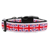 Mirage Pet Products Tiled Union Jack(UK Flag) Nylon Ribbon Collar Large