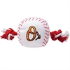 Mirage Pet Products Baltimore Orioles Nylon Baseball Rope Pet Toy