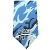 Mirage Pet Products Personal Trainer Screen Print Bandana Blue Camo