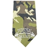 Mirage Pet Products Personal Trainer Screen Print Bandana Green Camo