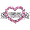 Mirage Pet Products Heart Hair Barrette Pink
