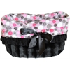 Mirage Pet Products Pink Party Dots Reversible Snuggle Bugs Pet Bed, Bag, and Car Seat All-in-One