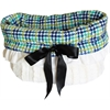 Mirage Pet Products Aqua Plaid Reversible Snuggle Bugs Pet Bed, Bag, and Car Seat All-in-One