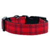 Mirage Pet Products Plaid Nylon Collar  Red Large