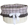 Mirage Pet Products Pink Plaid Reversible Snuggle Bugs Pet Bed, Bag, and Car Seat All-in-One